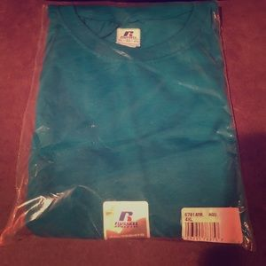 Brand new teal Russell Athletic tee 4XL